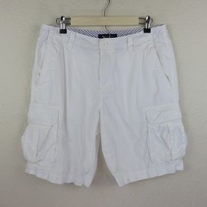Tommy Hilfiger White Cargo Shorts